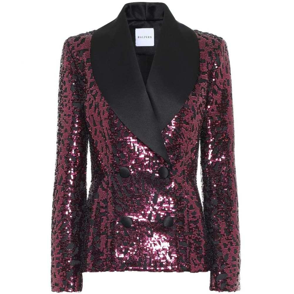 ハルパーン Halpern レディース スーツ・ジャケット タキシード アウター【Sequined tuxedo blazer】Pink