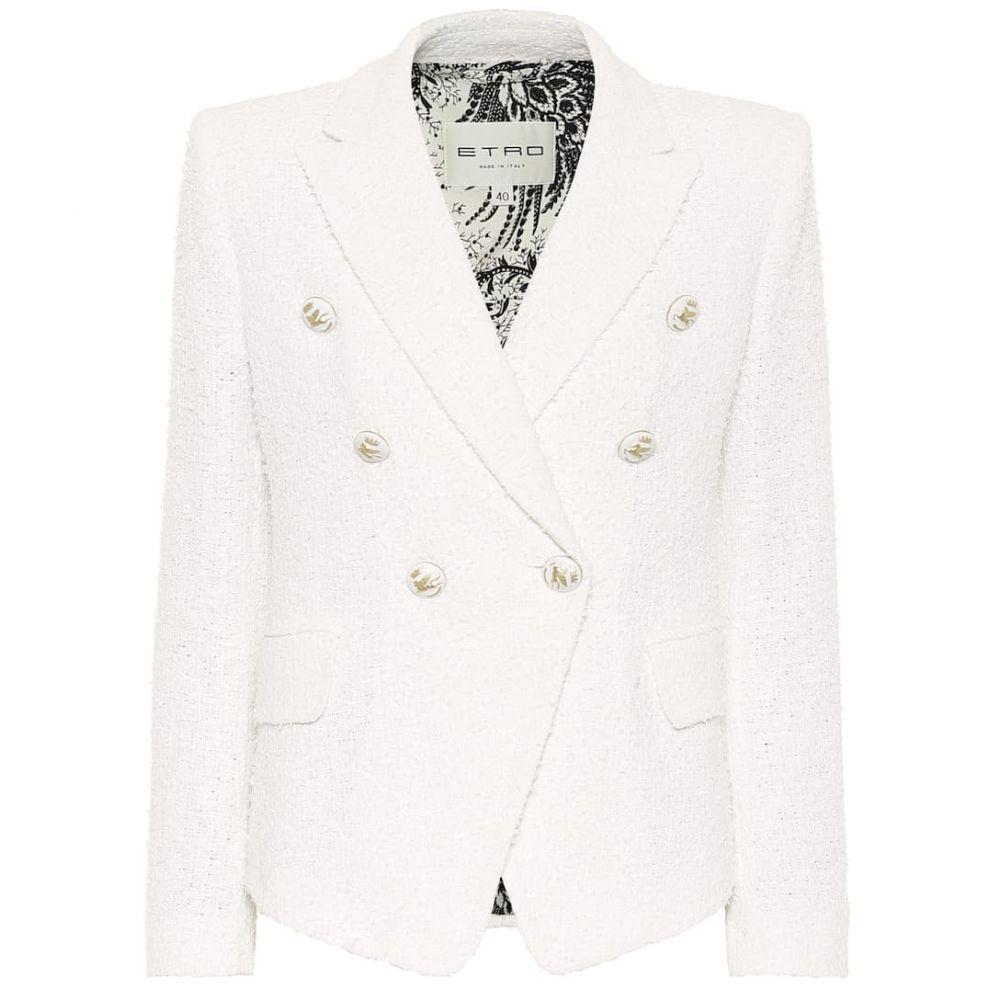 エトロ Etro レディース スーツ・ジャケット アウター【Cotton-blend tweed blazer】