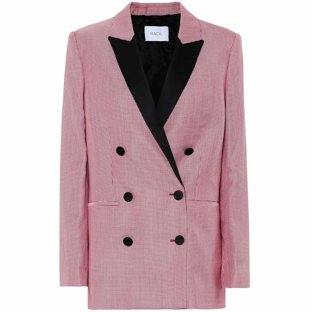 ラシル Racil レディース スーツ・ジャケット アウター【Aquila wool-blend blazer】Red Microcheck