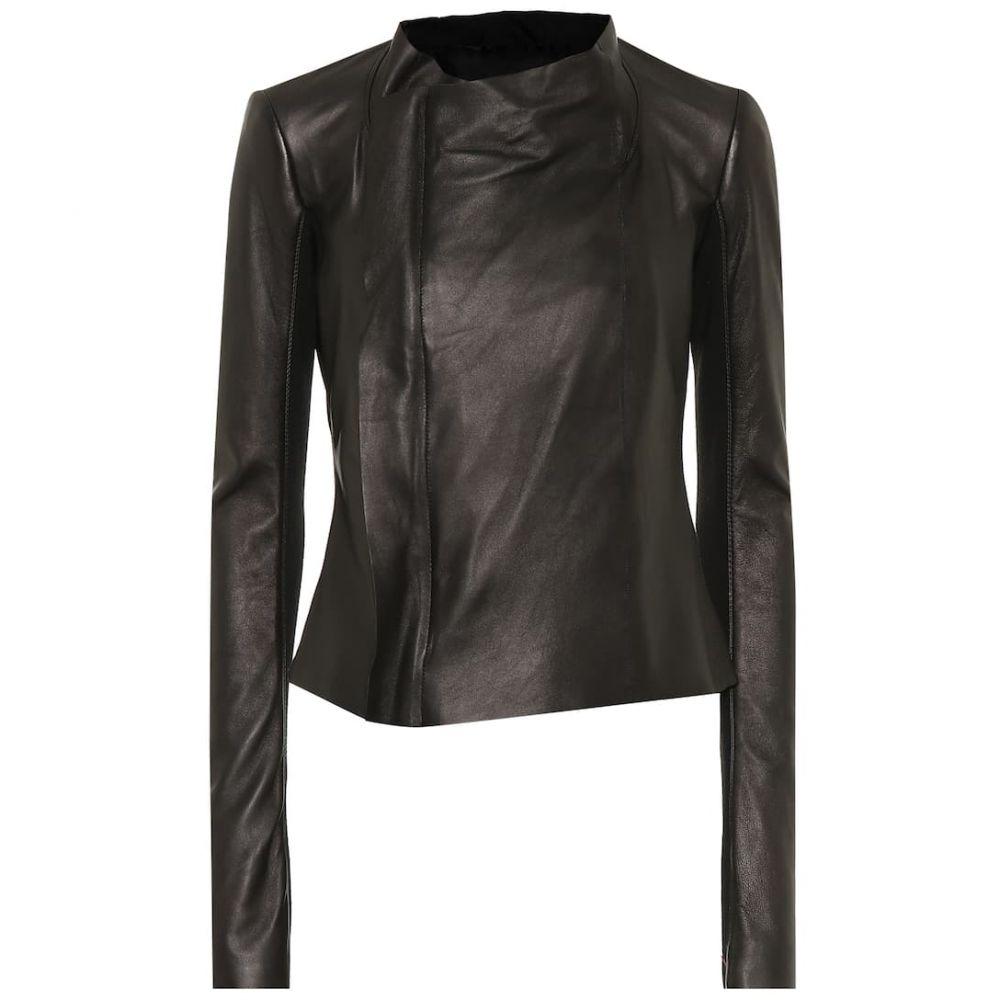 リック オウエンス Rick Owens レディース レザージャケット ライダース アウター【Low Neck leather biker jacket】
