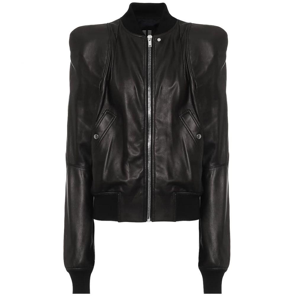 リック オウエンス Rick Owens レディース レザージャケット アウター【Zionic leather jacket】