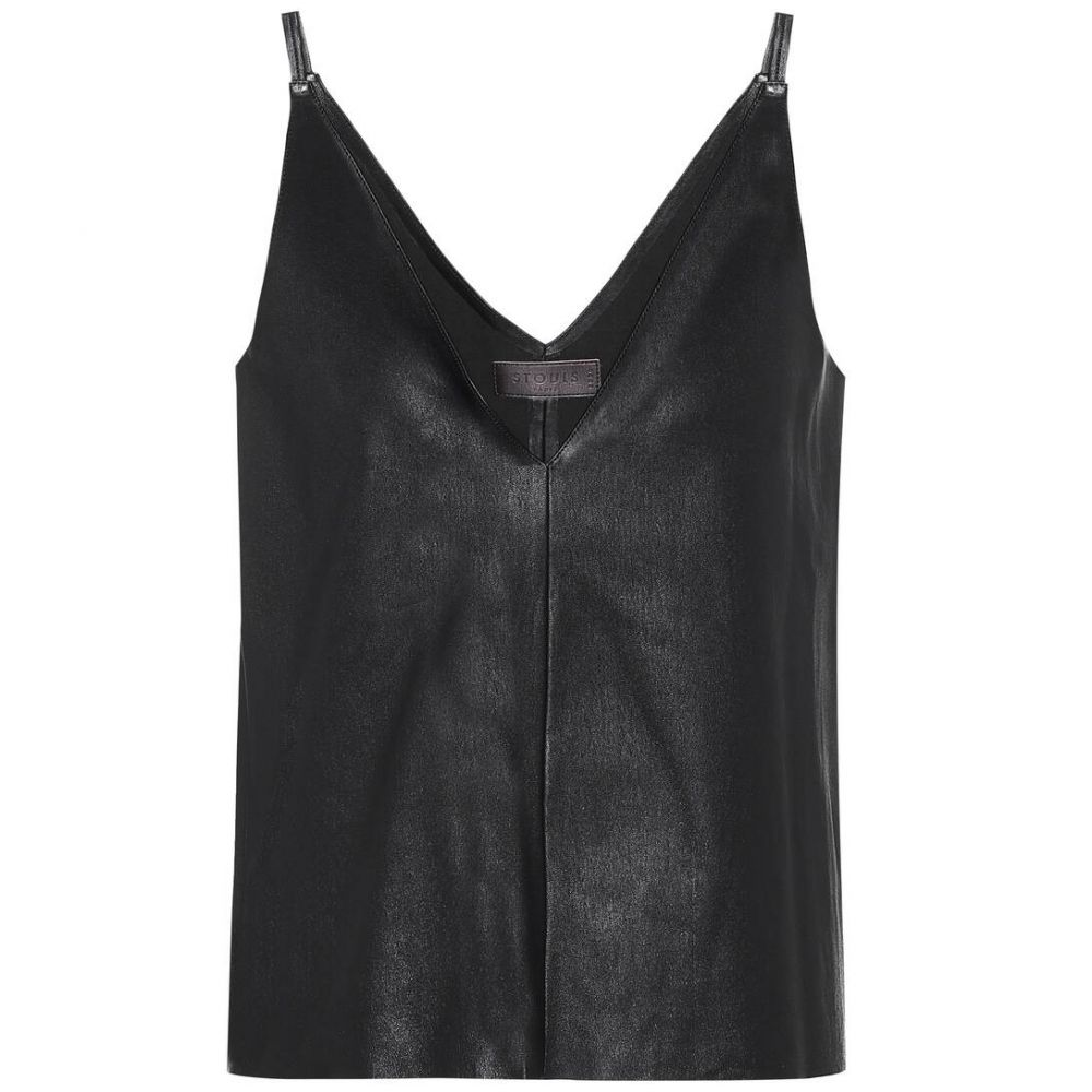 ストールス Stouls レディース スリップ・キャミソール インナー・下着【Salome leather camisole】Noir Light