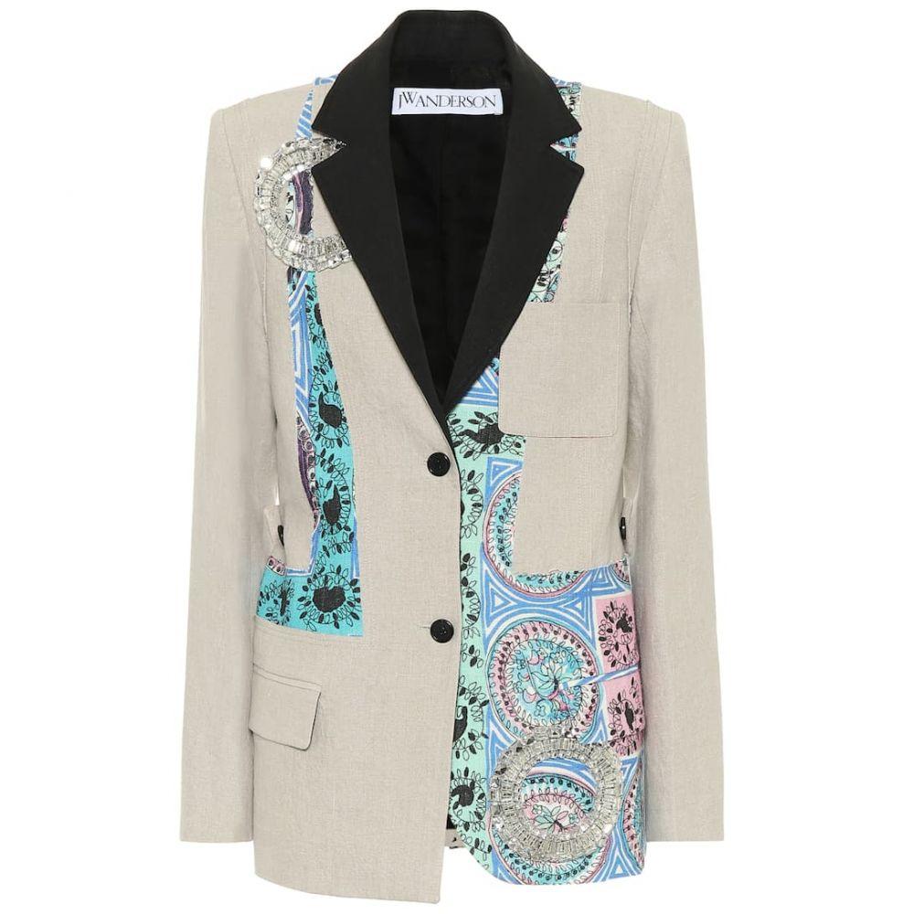 J.W.アンダーソン JW Anderson レディース スーツ・ジャケット アウター【Printed linen blazer】Flax