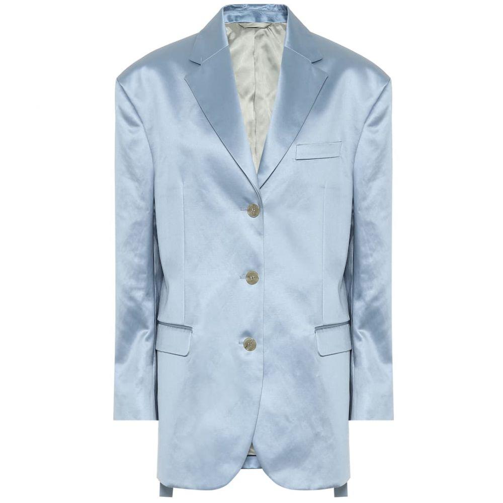 アクネ ストゥディオズ Acne Studios レディース スーツ・ジャケット アウター【Cotton-blend satin blazer】Powder Blue
