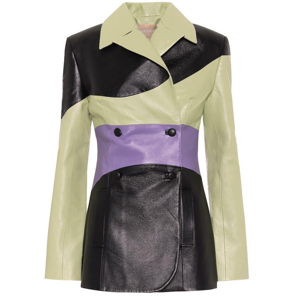 マテリエルティビリシ Materiel Tbilisi レディース レザージャケット アウター【Faux-leather blazer】Violet/Pistachio/Black