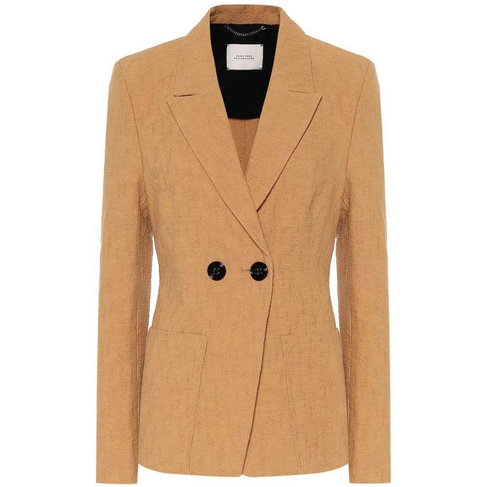 ドロシー シューマッハ Dorothee Schumacher レディース スーツ・ジャケット アウター【Touch of Summer cotton blazer】Golden Beige