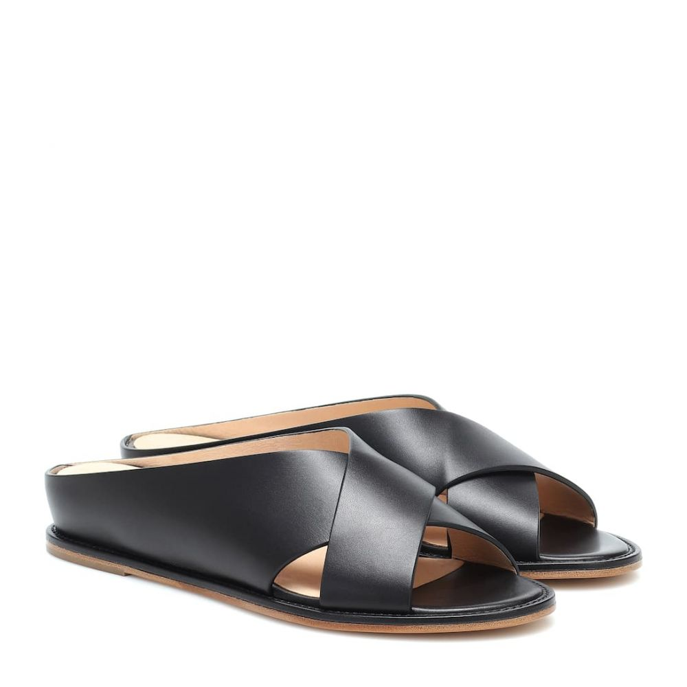 ガブリエラ ハースト Gabriela Hearst レディース サンダル・ミュール シューズ・靴【Ellington leather slides】Black