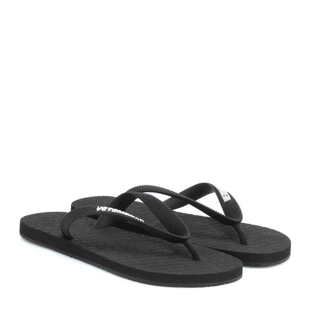 ヴェトモン Vetements レディース サンダル・ミュール シューズ・靴【Logo sandals】Black