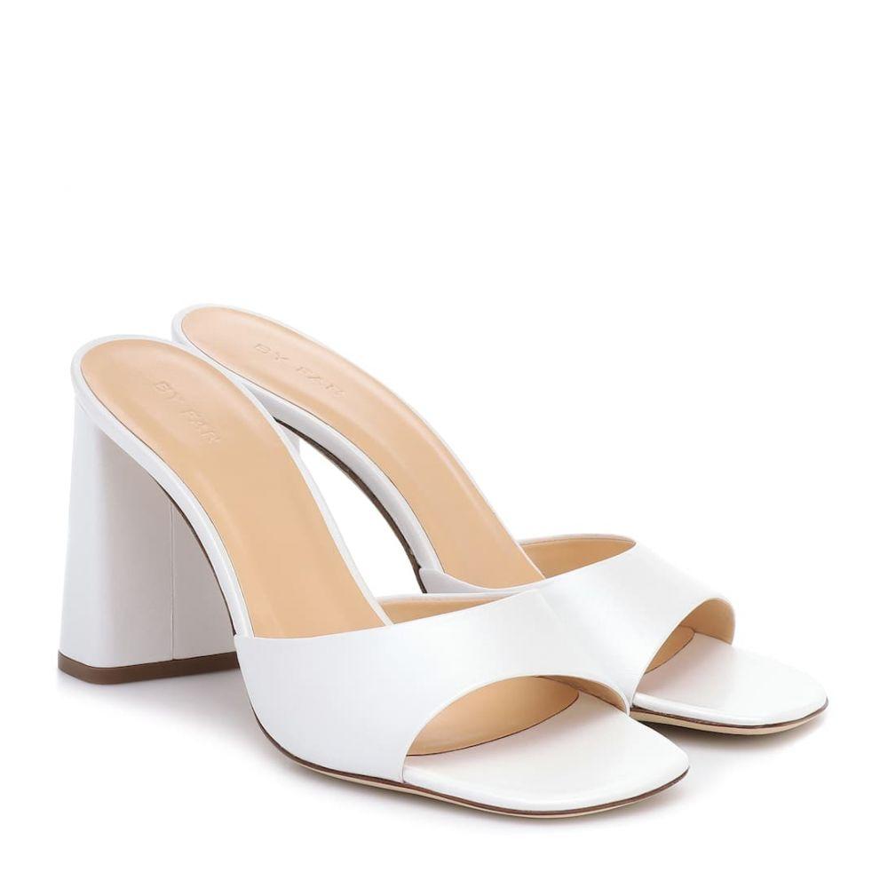 バイ ファー By Far レディース サンダル・ミュール シューズ・靴【Juju leather sandals】White Pearl Shine