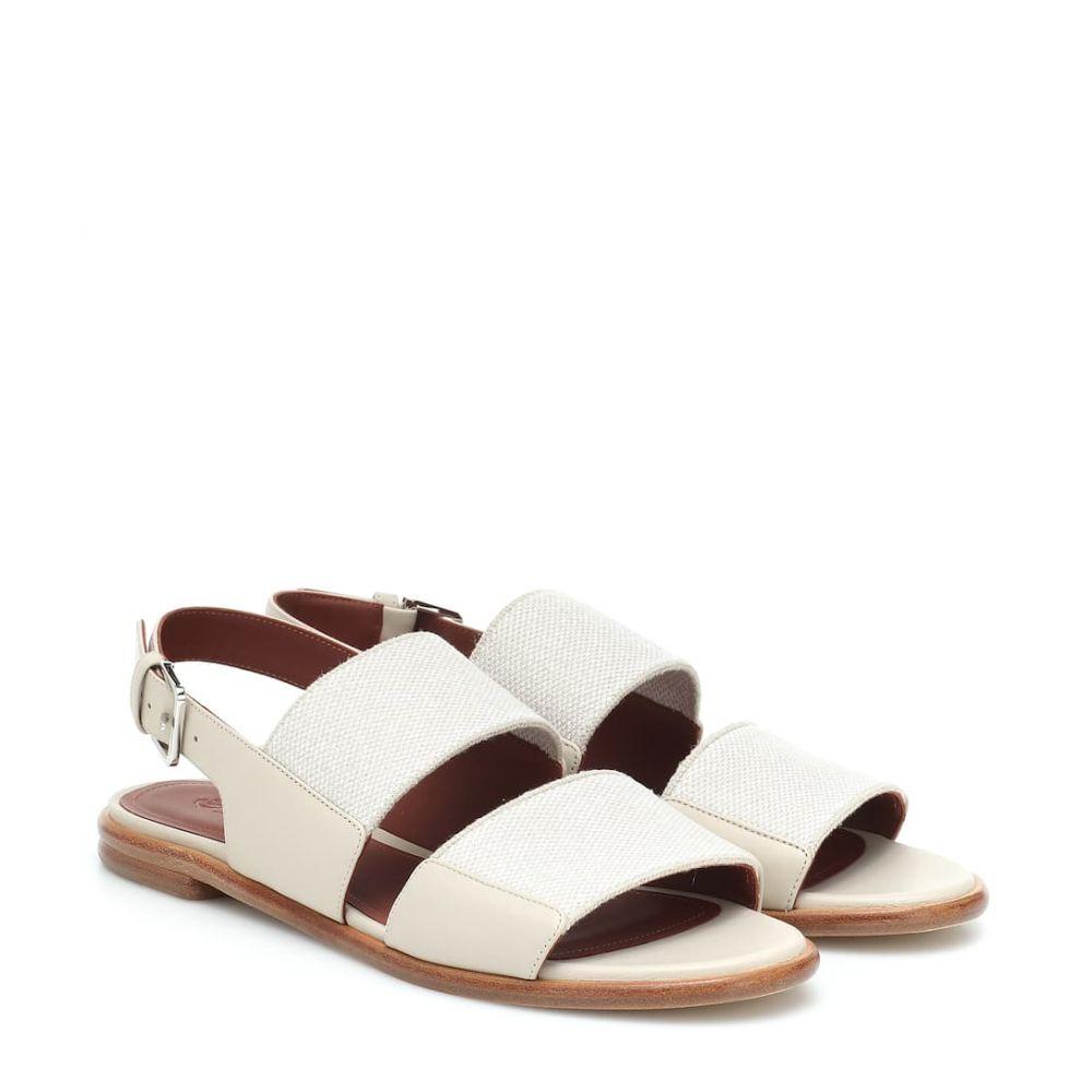 ロロピアーナ Loro Piana レディース サンダル・ミュール シューズ・靴【Canvas and leather sandals】