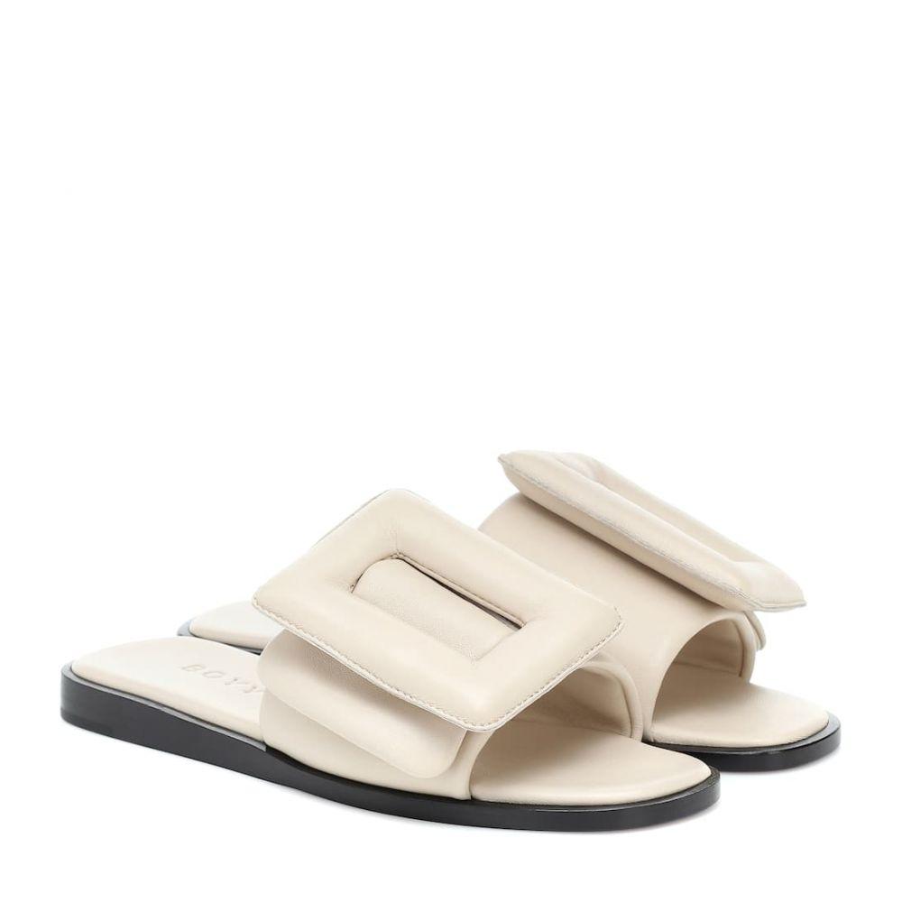 ボーイ Boyy レディース サンダル・ミュール シューズ・靴【Puffy leather slides】Ecru