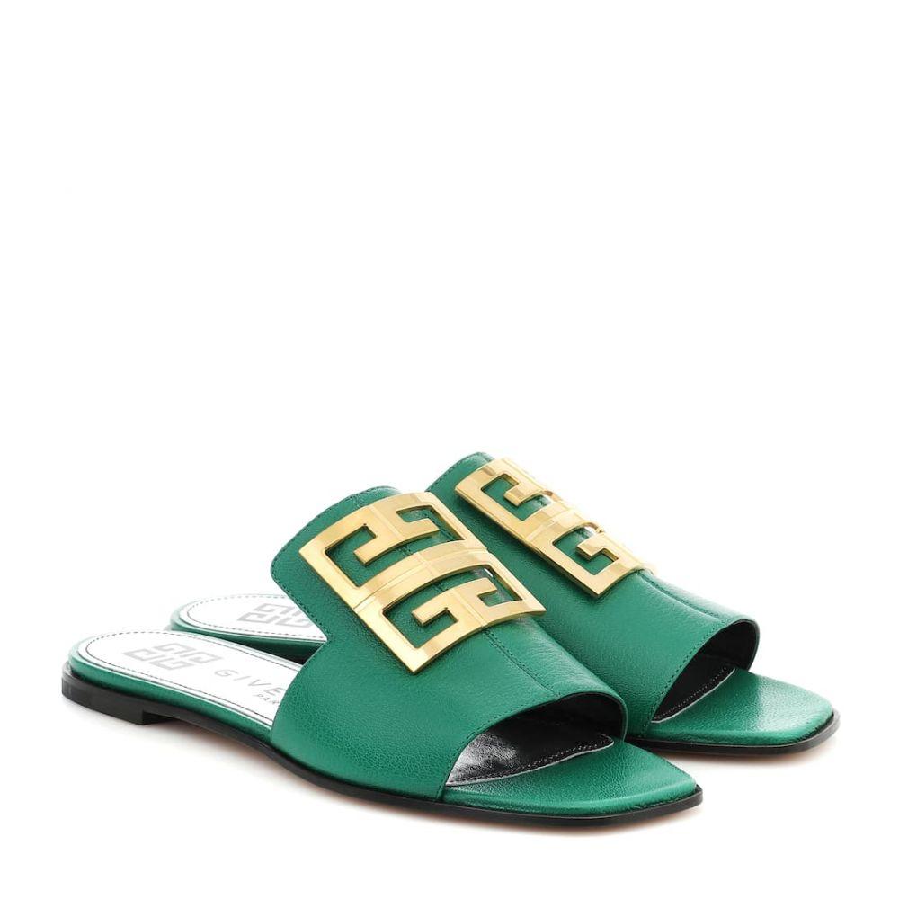 ジバンシー Givenchy レディース サンダル・ミュール シューズ・靴【4G leather slides】Mint Green