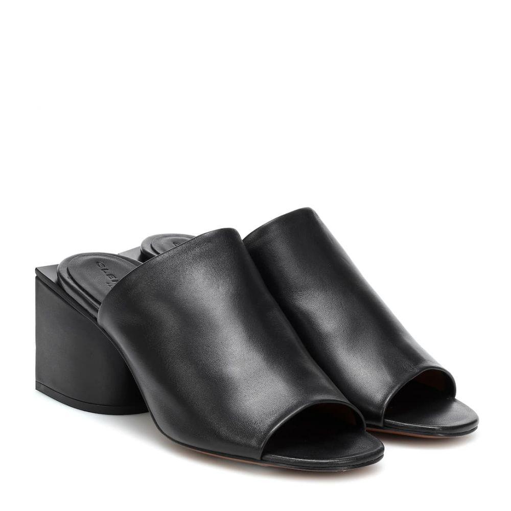 ロベール クレジュリー Clergerie レディース サンダル・ミュール シューズ・靴【Edith leather mules】Black