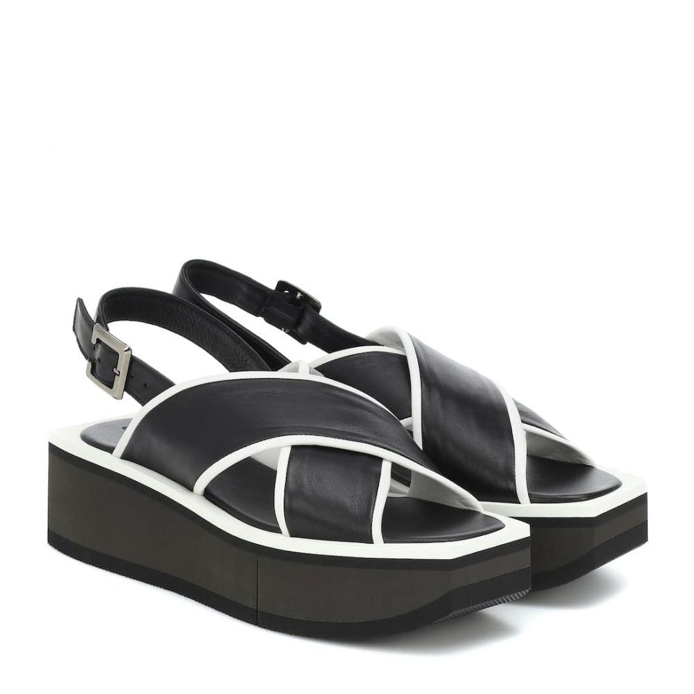 ロベール クレジュリー Clergerie レディース サンダル・ミュール シューズ・靴【Unie platform leather sandals】Black