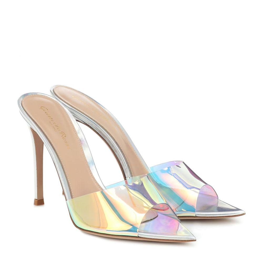 ジャンヴィト ロッシ Gianvito Rossi レディース サンダル・ミュール シューズ・靴【Elle 105 holographic PVC sandals】Hologram Silver