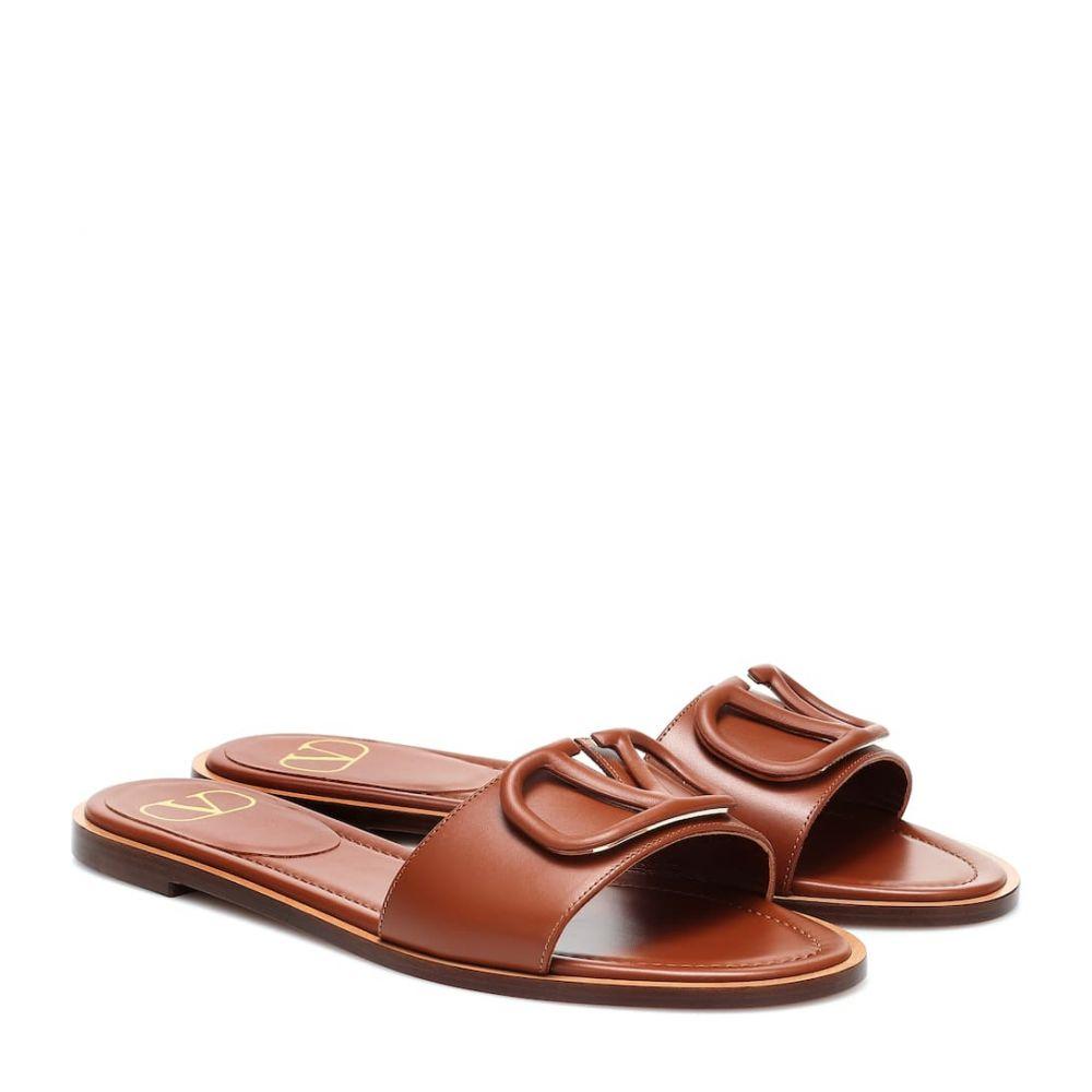 ヴァレンティノ Valentino レディース サンダル・ミュール シューズ・靴【Garavani VLOGO leather slides】Selleria
