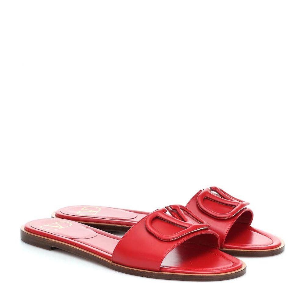 ヴァレンティノ Valentino レディース サンダル・ミュール シューズ・靴【Garavani VLOGO leather mules】Rouge Pur