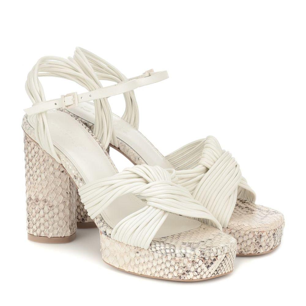 メルセデス カステロ Mercedes Castillo レディース サンダル・ミュール シューズ・靴【Calisse leather platform sandals】Cream