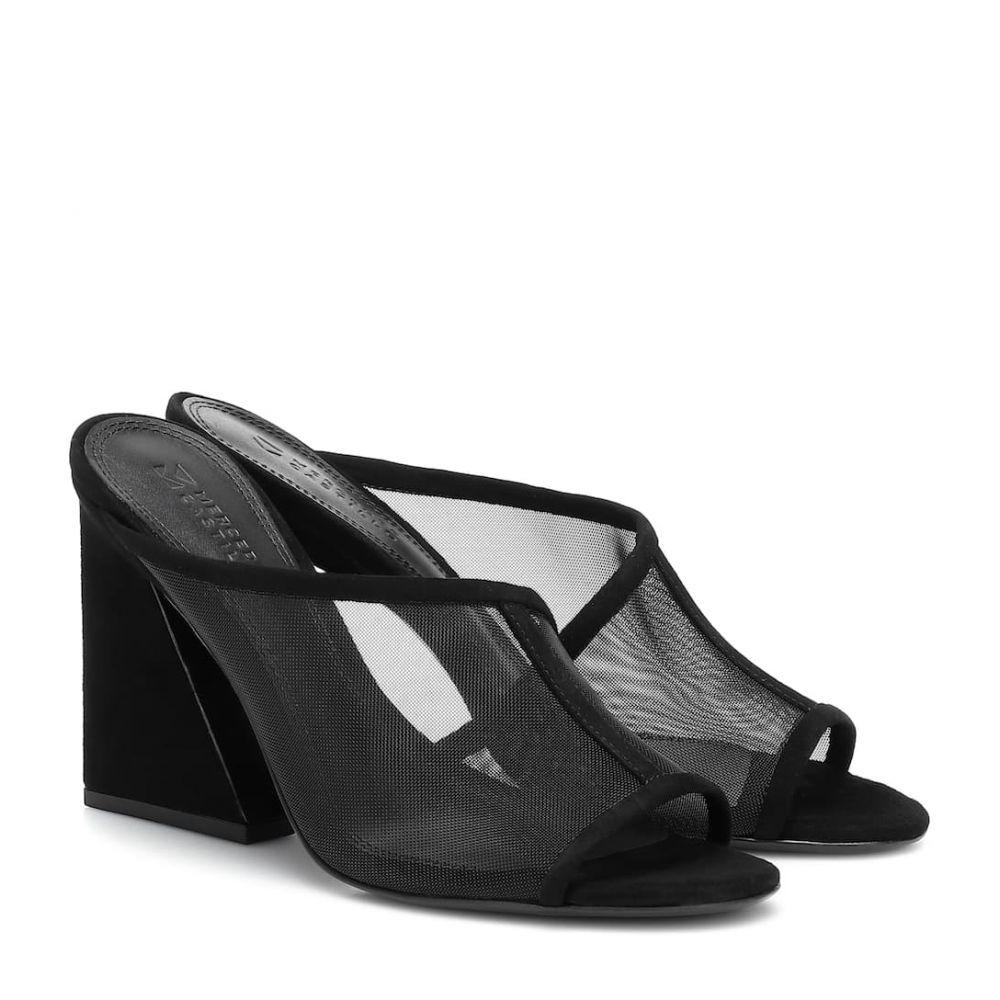 メルセデス カステロ Mercedes Castillo レディース サンダル・ミュール シューズ・靴【Lathasa suede and mesh sandals】Black
