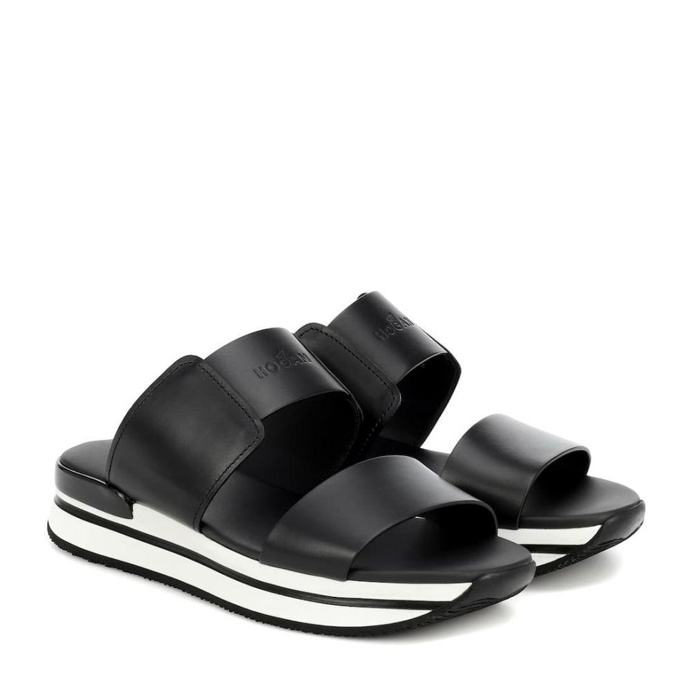 ホーガン Hogan レディース サンダル・ミュール シューズ・靴【H257 leather sandals】Nero