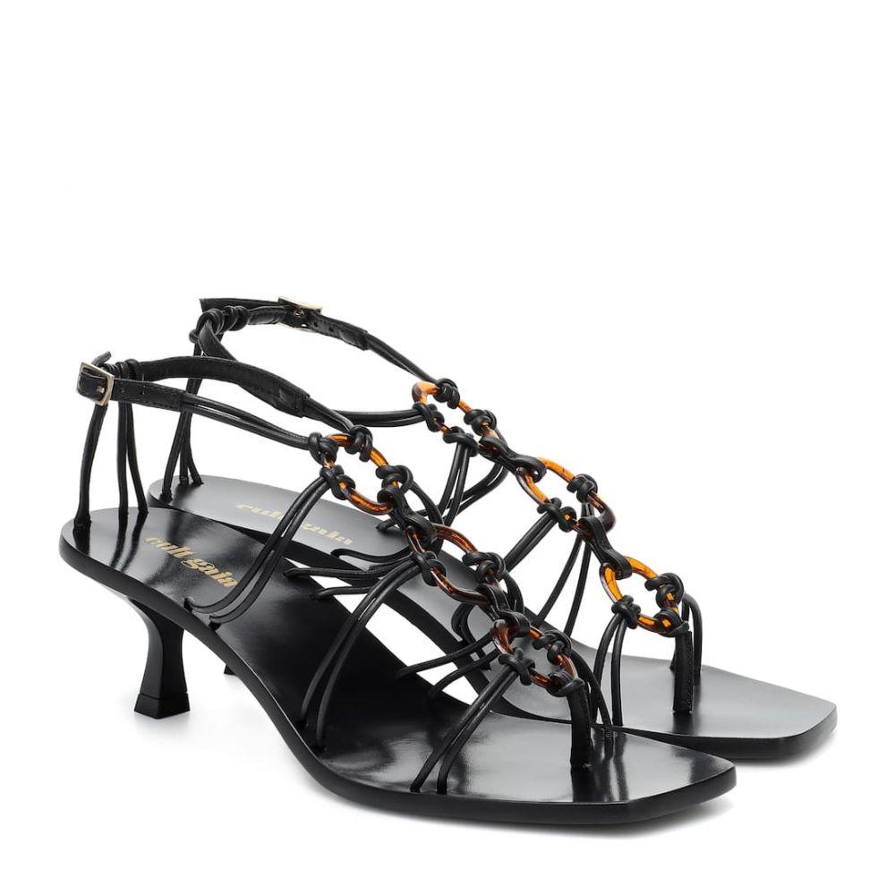 カルト ガイア Cult Gaia レディース サンダル・ミュール シューズ・靴【Ziba leather sandals】Black