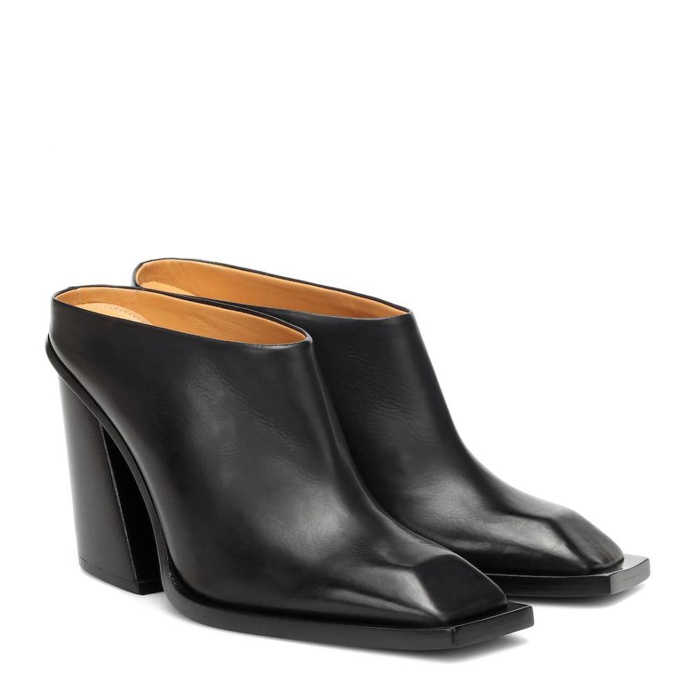 ペーター ペトロフ Petar Petrov レディース サンダル・ミュール シューズ・靴【Sterling leather mules】Black
