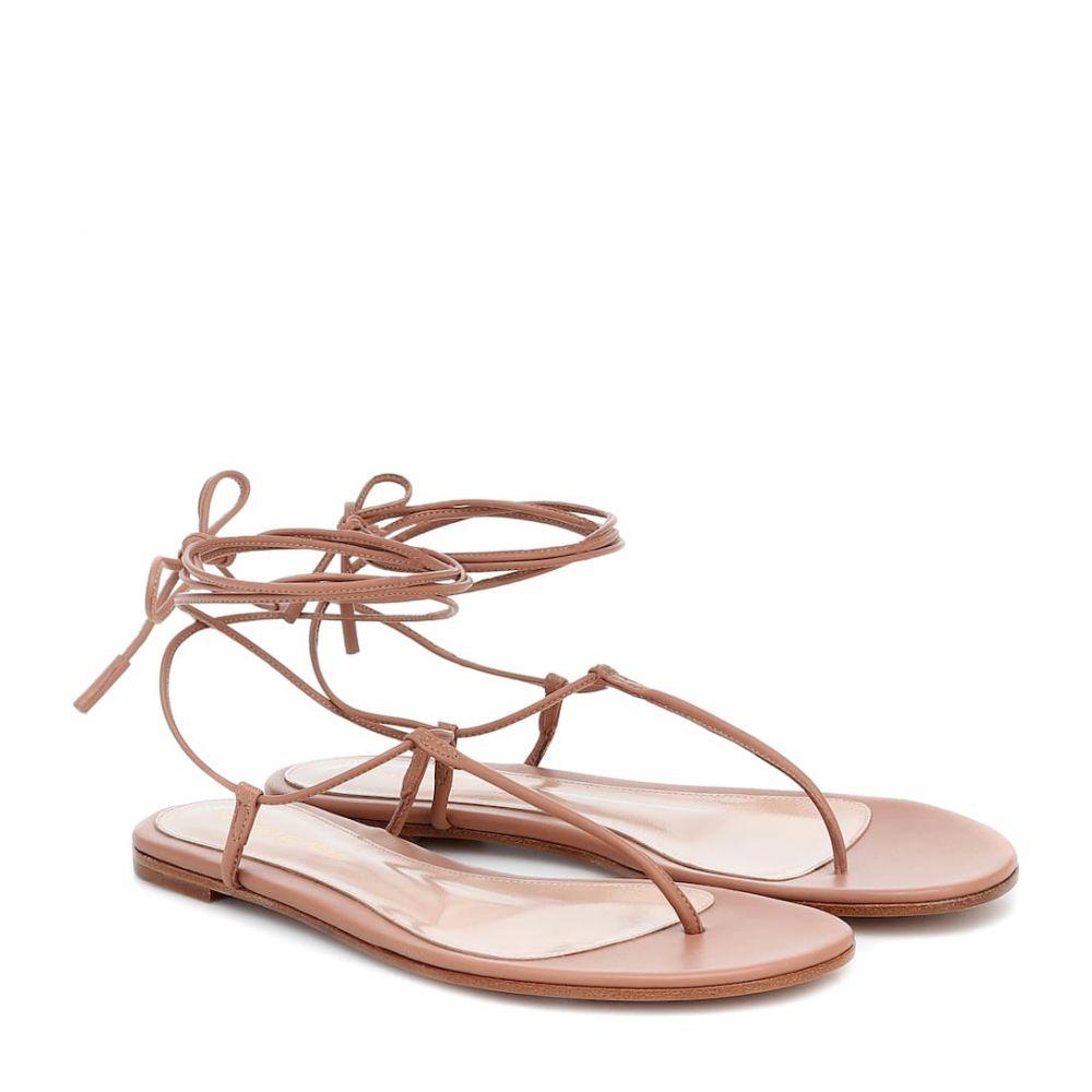 ジャンヴィト ロッシ Gianvito Rossi レディース サンダル・ミュール シューズ・靴【Leather sandals】Praline