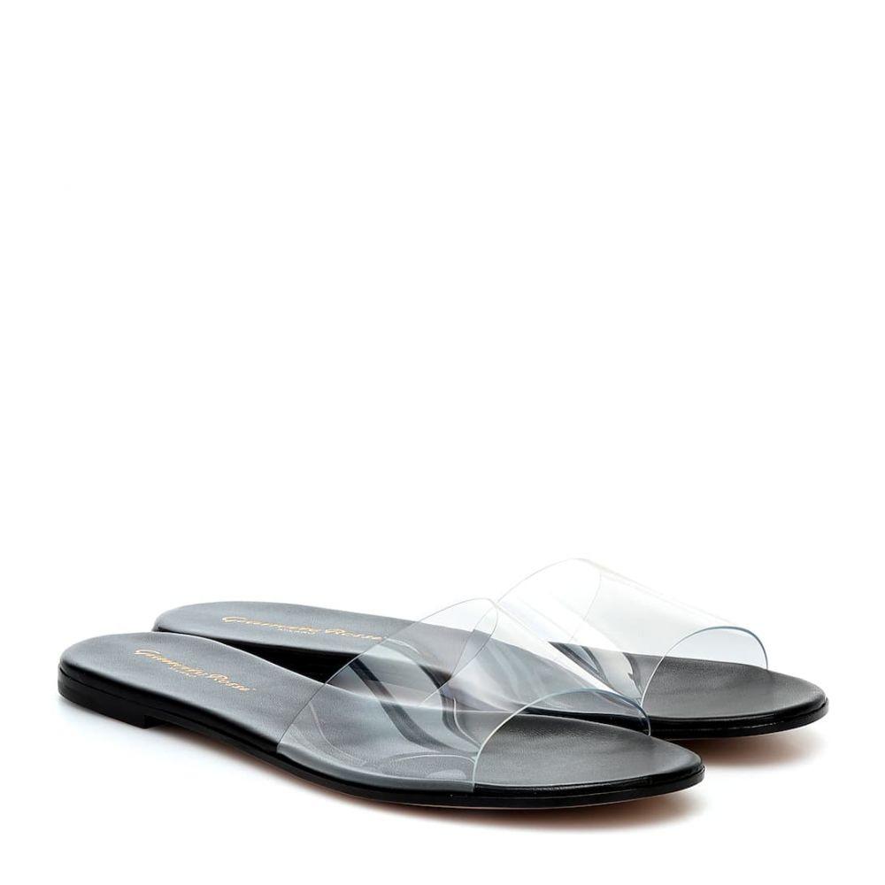 ジャンヴィト ロッシ Gianvito Rossi レディース サンダル・ミュール シューズ・靴【Plexi sandals】Trasp/Black