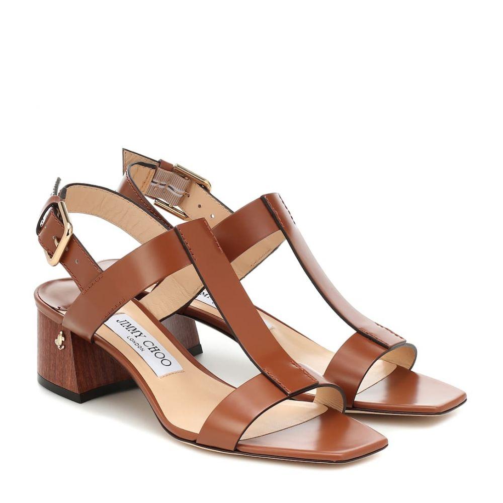ジミー チュウ Jimmy Choo レディース サンダル・ミュール シューズ・靴【Jin 45 leather sandals】Cuoio