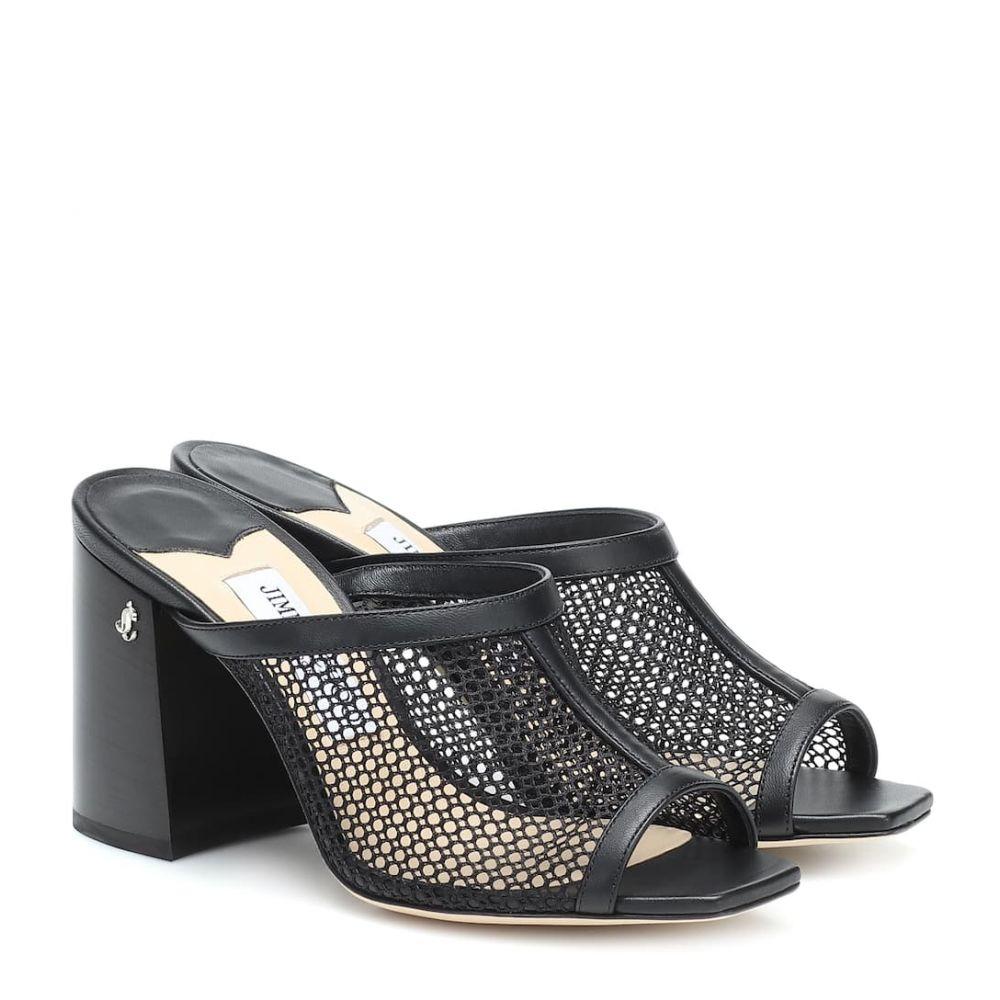 ジミー チュウ Jimmy Choo レディース サンダル・ミュール シューズ・靴【Joud 85 mesh and leather sandals】Black/Black