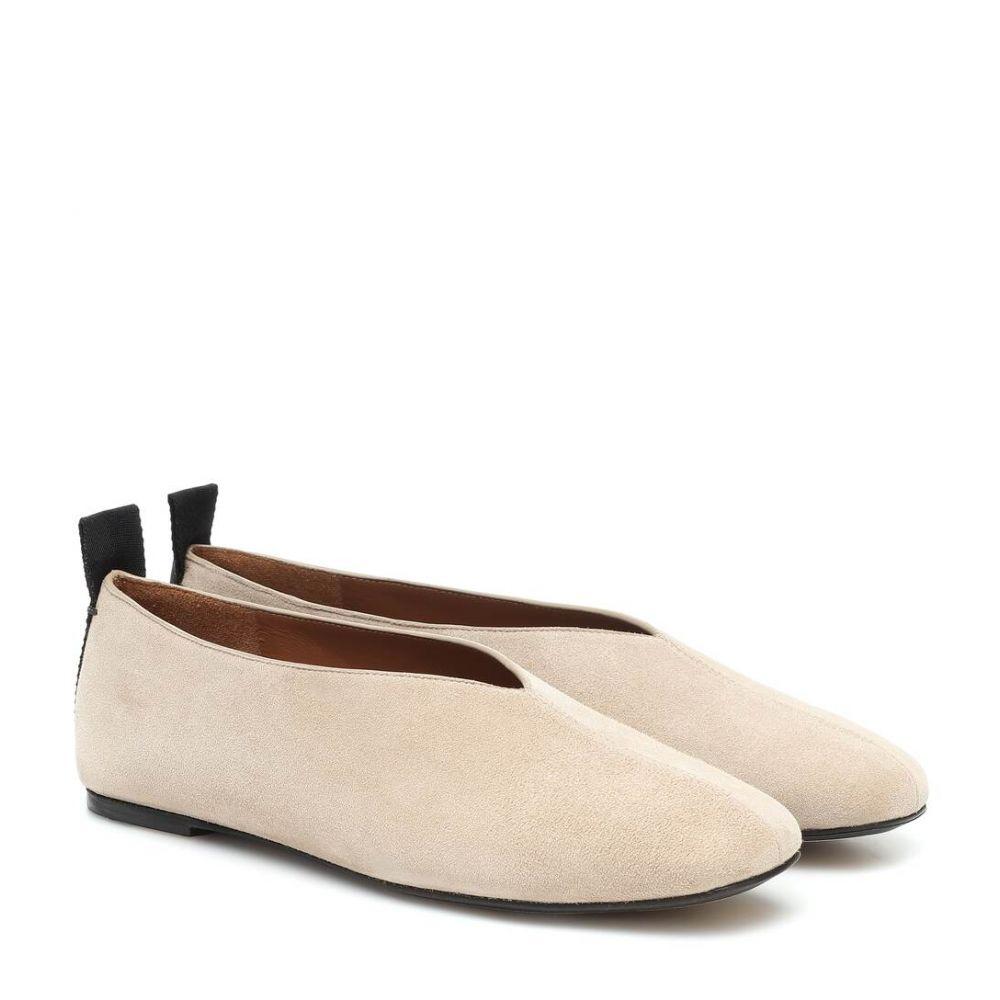 ジョゼフ Joseph レディース スリッポン・フラット シューズ・靴【Suede ballet flats】Alabastro