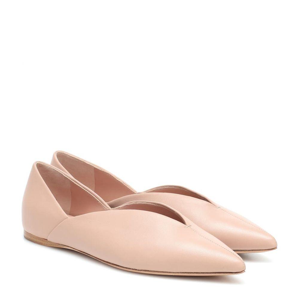 マックスマーラ Max Mara レディース スリッポン・フラット シューズ・靴【Fisher leather ballet flats】