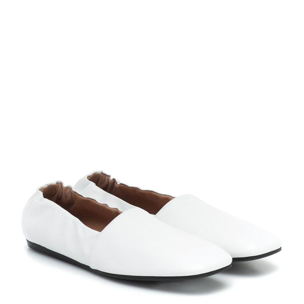 マルニ Marni レディース スリッポン・フラット シューズ・靴【Leather ballet flats】