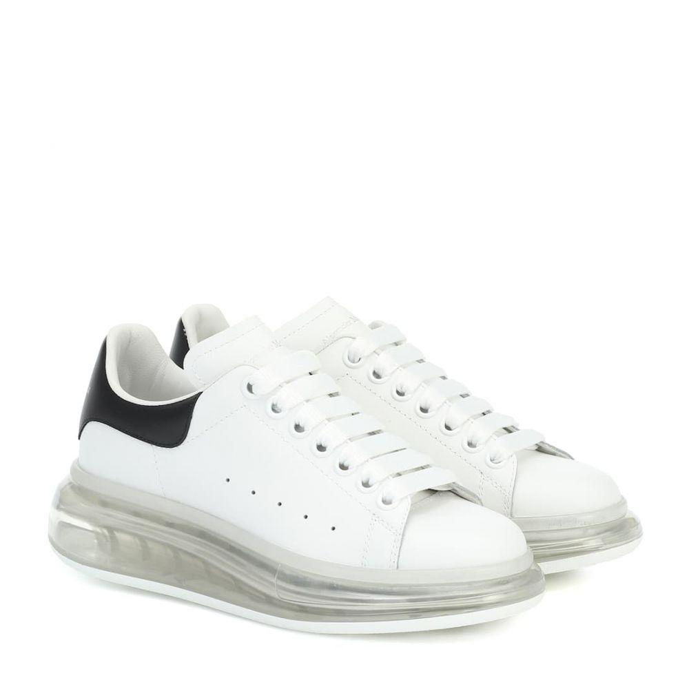 アレキサンダー マックイーン Alexander McQueen レディース スニーカー シューズ・靴【Leather sneakers】White/Black/White