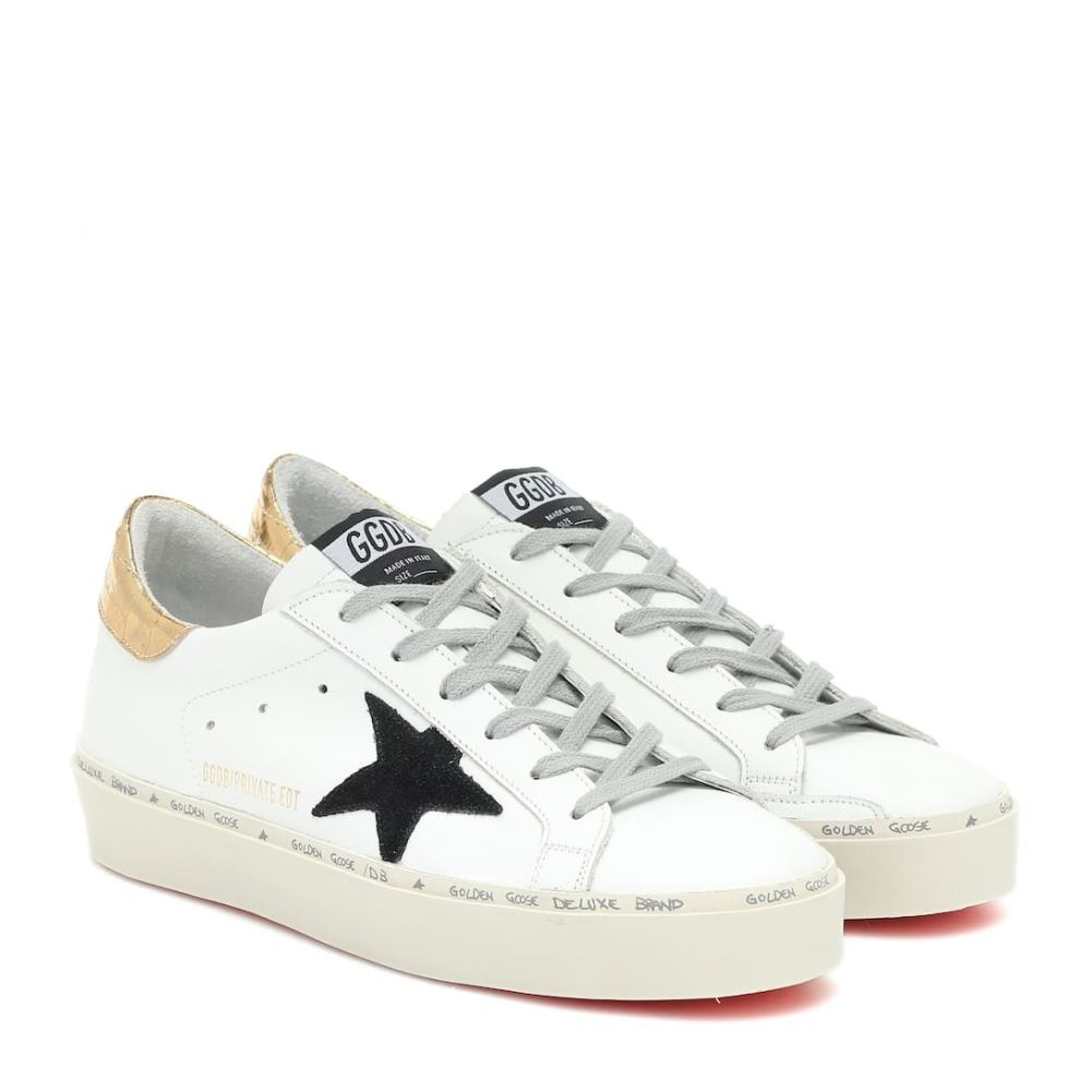 ゴールデン グース Golden Goose レディース スニーカー シューズ・靴【Hi-Star leather sneakers】MYT-White Leather-Gold Cocco B