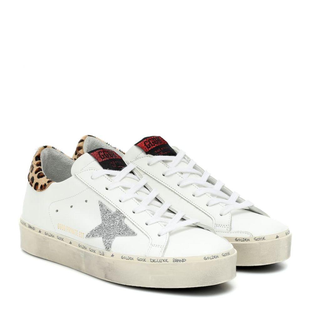 ゴールデン グース Golden Goose レディース スニーカー シューズ・靴【Hi Star leather sneakers】MYT-White Leather-Leo Pony-Cry