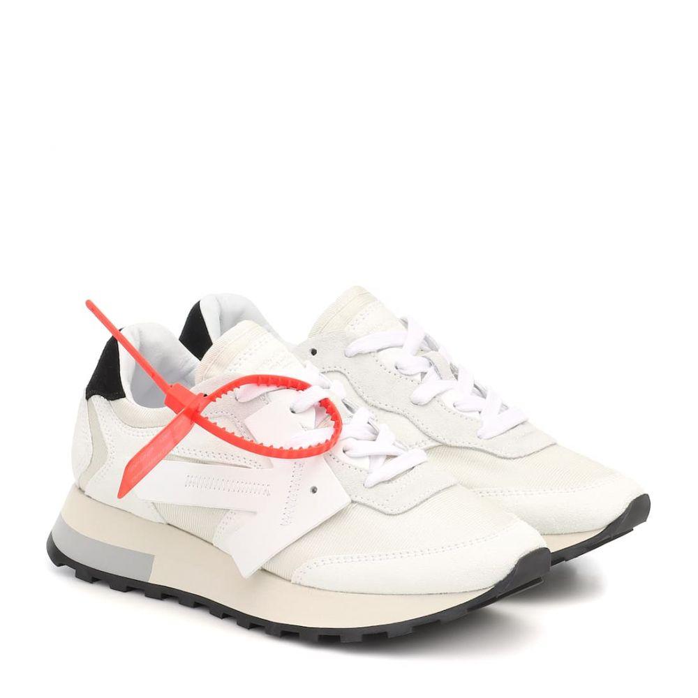 オフホワイト Off-White レディース スニーカー シューズ・靴【HG Runner suede sneakers】White Whit