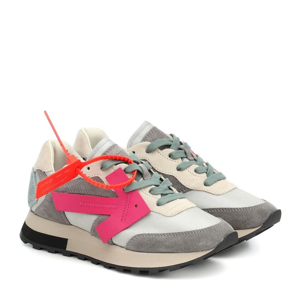 オフホワイト Off-White レディース スニーカー シューズ・靴【HG Runner suede sneakers】Medium Gre