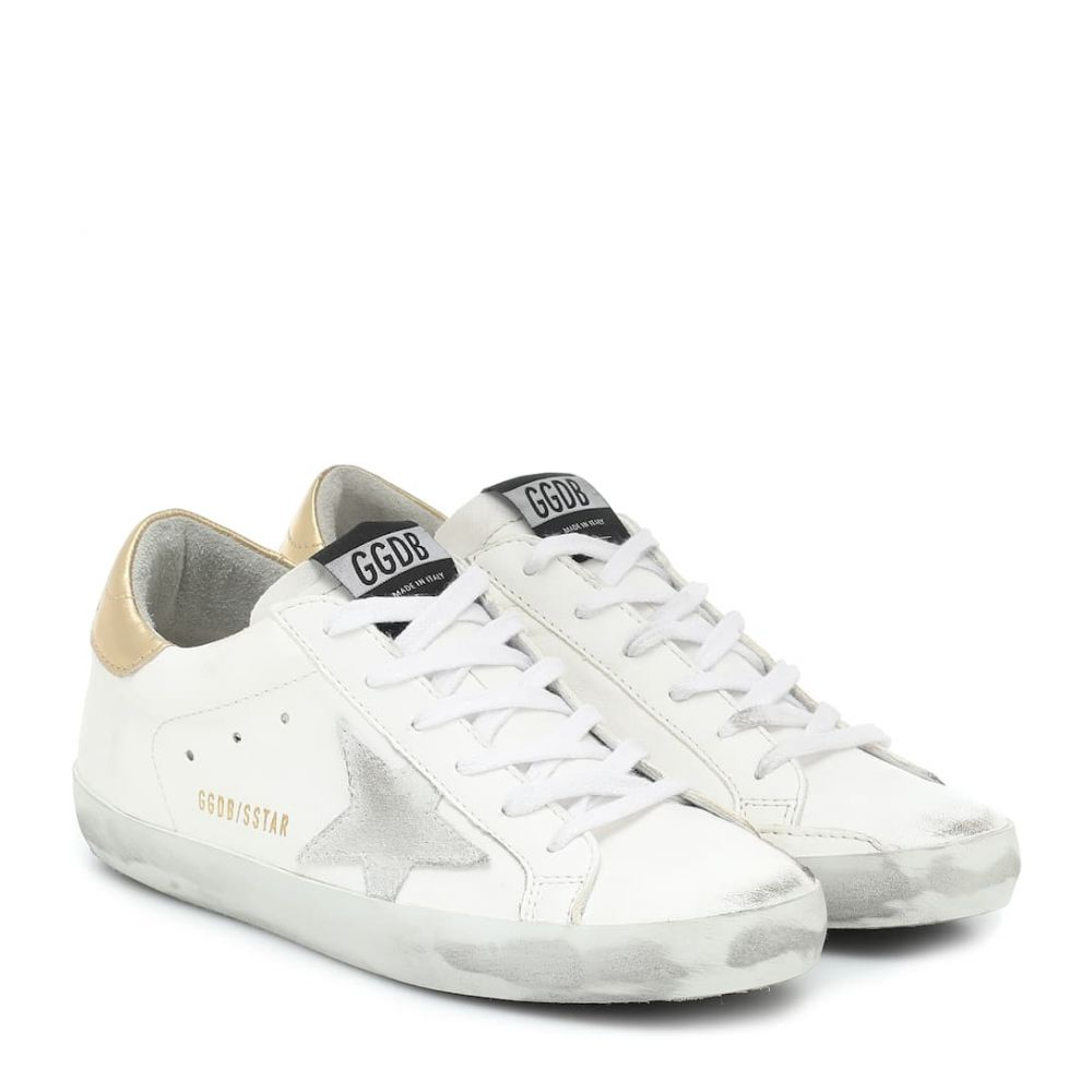 ゴールデン グース Golden Goose レディース スニーカー シューズ・靴【Superstar leather sneakers】White Leather-Washed Gold