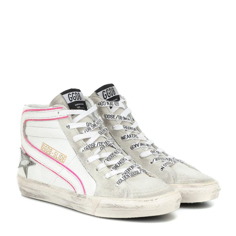 ゴールデン グース Golden Goose レディース スニーカー シューズ・靴【Slide leather and suede sneakers】White Leather-Ice Suede-Camou