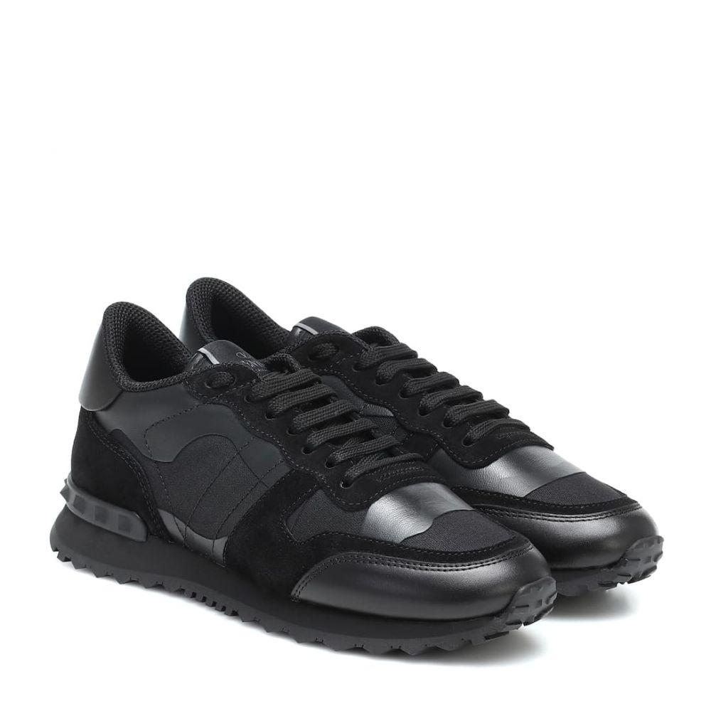 ヴァレンティノ Valentino レディース スニーカー シューズ・靴【Garavani Rockrunner leather sneakers】Nero/Nero