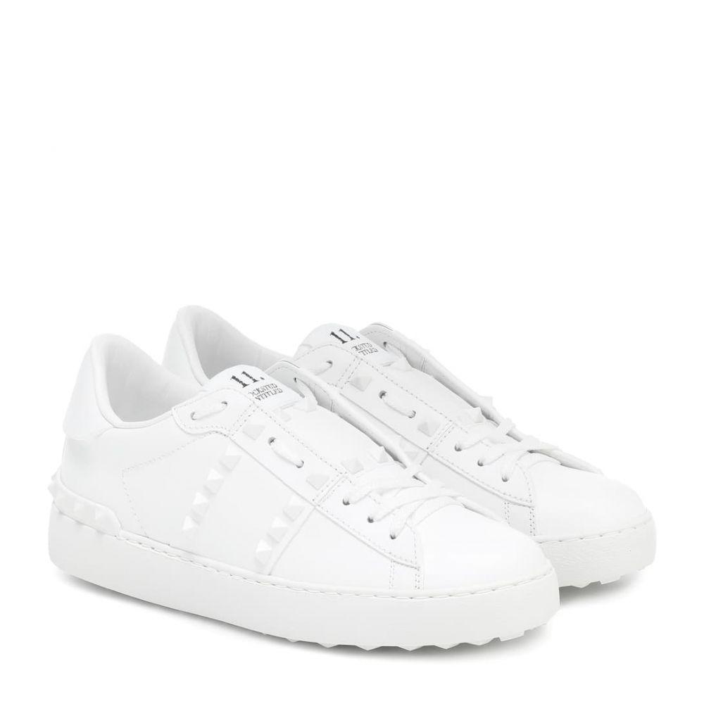 ヴァレンティノ Valentino レディース スニーカー シューズ・靴【Leather sneakers】Bianco/Bianco