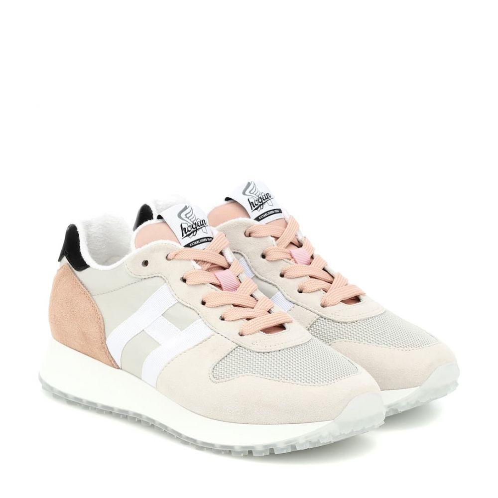 ホーガン Hogan レディース スニーカー シューズ・靴【H429 Runner suede sneakers】Naturale/Rosa Primer