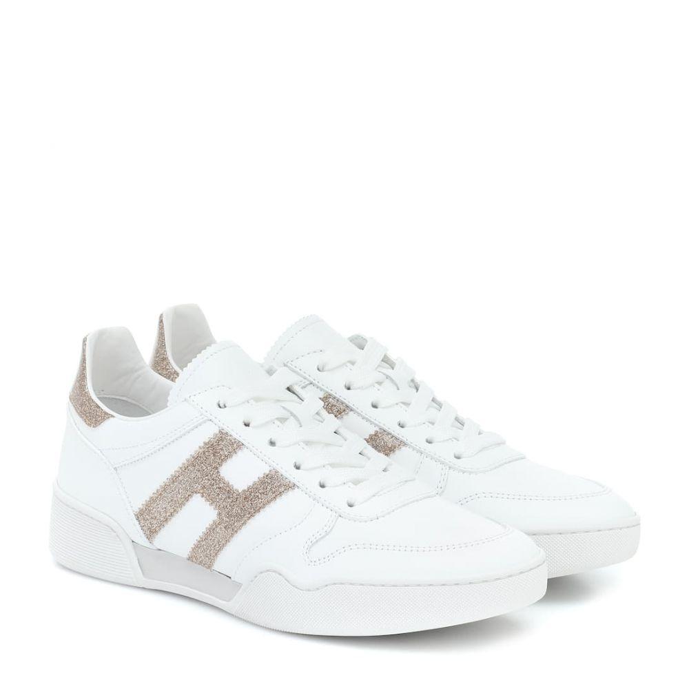 ホーガン Hogan レディース スニーカー シューズ・靴【H357 Retro leather sneakers】Bianco/Platino