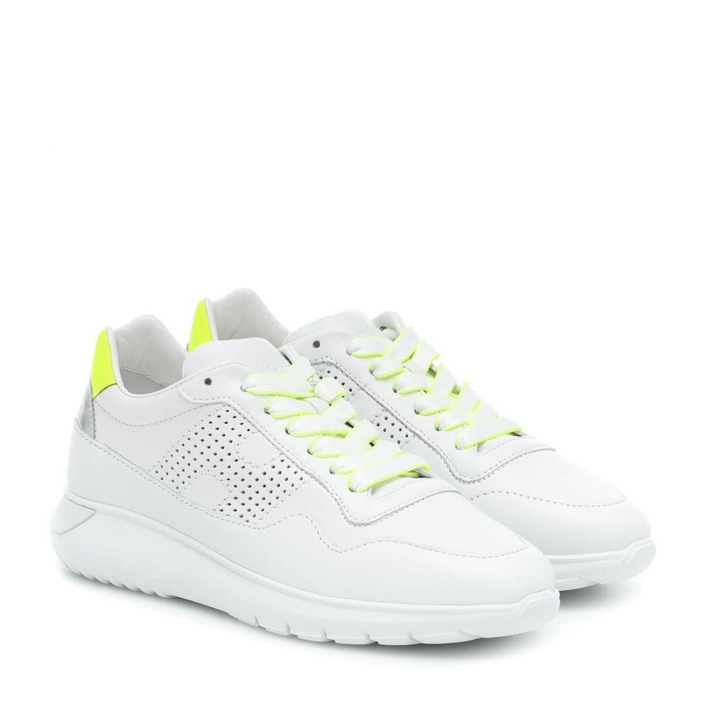 ホーガン Hogan レディース スニーカー シューズ・靴【H371 Interactive? sneakers】B.Co/Arg/Giallo Fluo