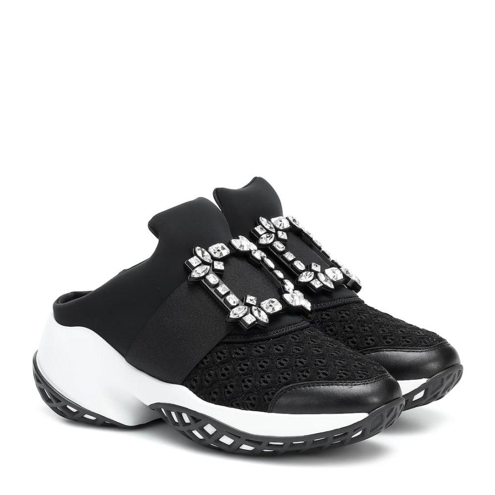ロジェ ヴィヴィエ Roger Vivier レディース スニーカー シューズ・靴【Viv' Run Strass Buckle sneakers】Nero