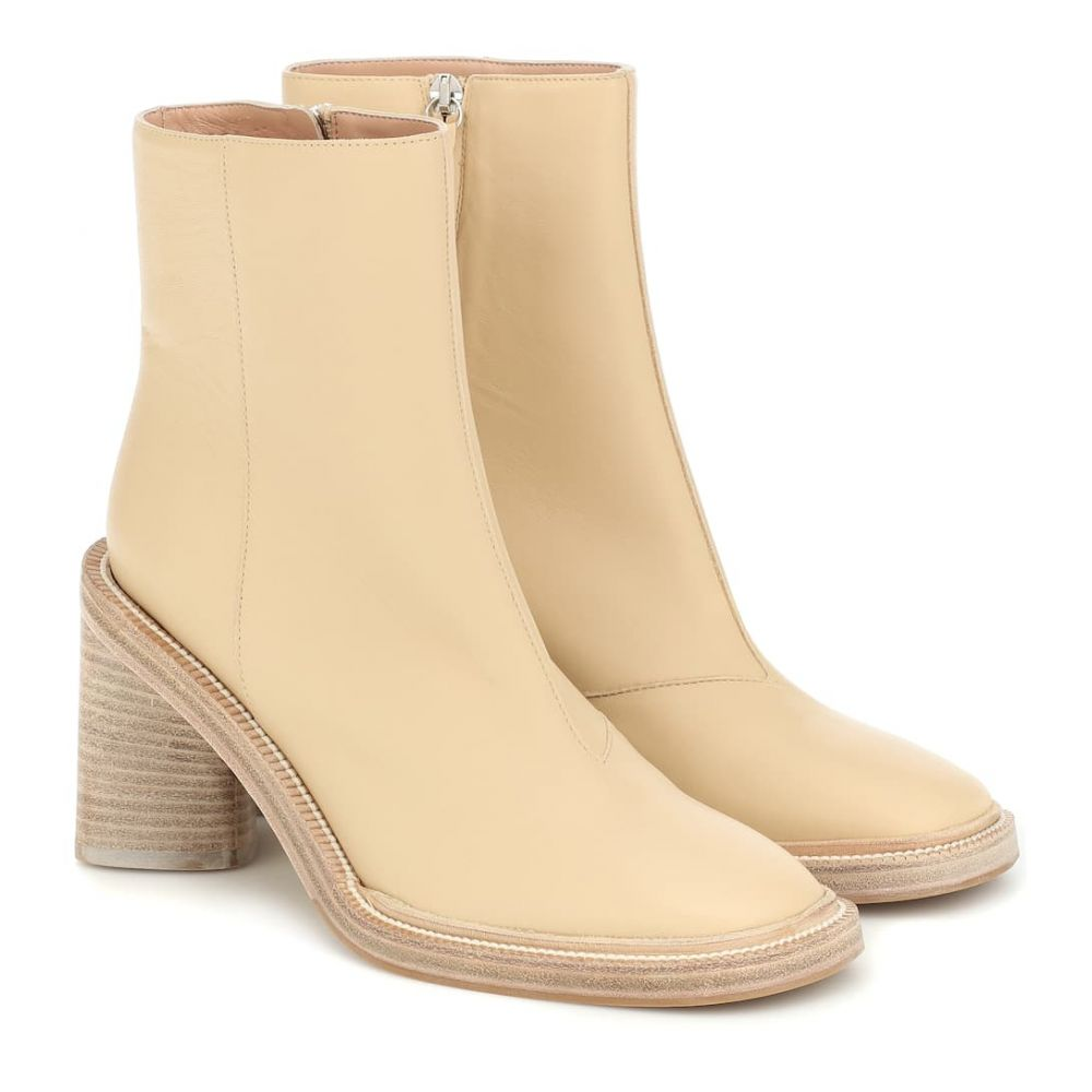 アクネ ストゥディオズ Acne Studios レディース ブーツ ショートブーツ シューズ・靴【Booker leather ankle boots】Ecru/Beige