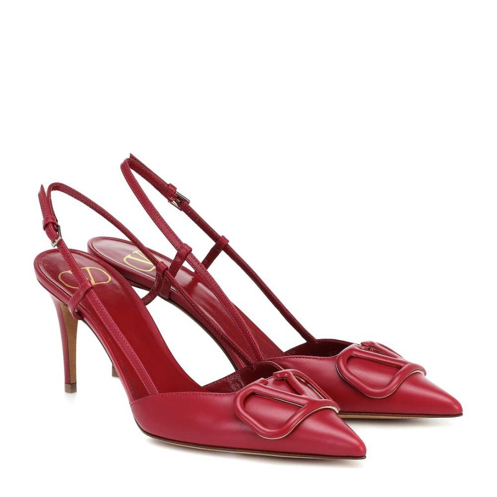 ヴァレンティノ Valentino レディース パンプス シューズ・靴【Garavani VLOGO leather slingback pumps】Raspberry Pink