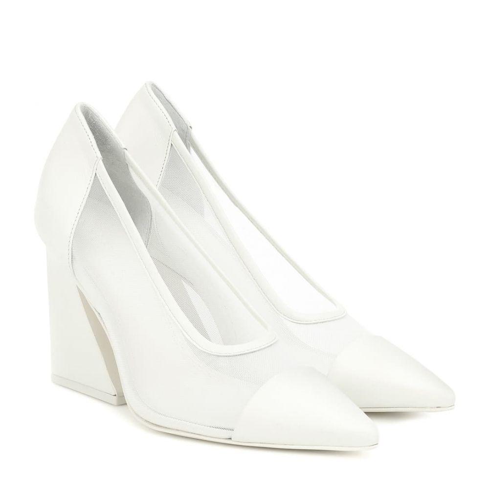 メルセデス カステロ Mercedes Castillo レディース パンプス シューズ・靴【Athena leather-trimmed pumps】Cream/White
