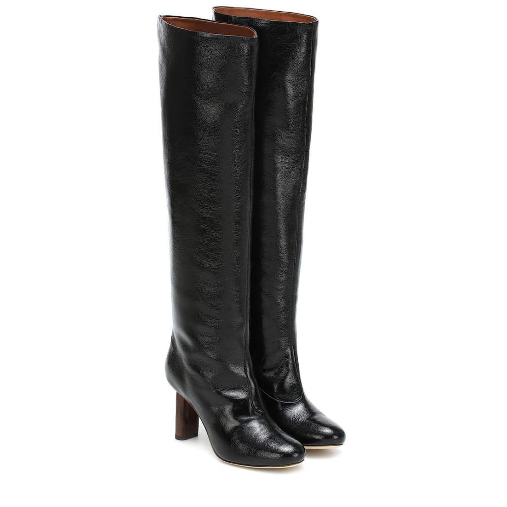 レジーナ ピヨ Rejina Pyo レディース ブーツ シューズ・靴【Allegra leather knee-high boots】Leather Black